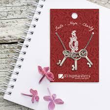 Faith Hope Charity Key Charm Necklace - Shop Ringmasters