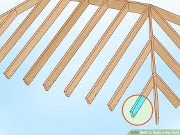Hip Rafter Size Chart Uk How To Build A Hip Roof 15 Steps With Pictures Wikihow