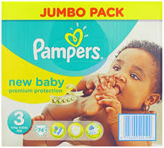 Pampers New Baby Nappies 2014 Size 3 74 Nappies