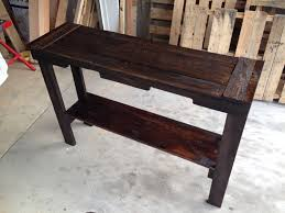 Pallet Entry Table Reclaimed Wood Entry Table Wb Designs