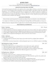 Welder Fabricator Simple Resume For Welders Fabricator With Welder Gorgeous Welding Resume