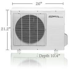 precharged mini split. Plain Split INNova Inc  Products 9000 BTU Innova Ductless Mini Split Air  Conditioner System With Precharged N
