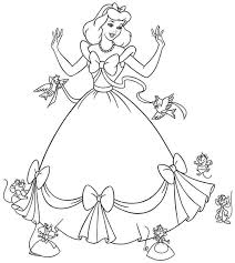 Small Picture Disney Princess Cinderella Coloring Pages GetColoringPagescom