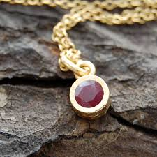 gold genuine ruby birthstone jewellery set by embers gemstone and real necklace
