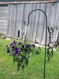 shepherd hook welcome yard garden decor