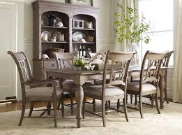black wood dining chair. Kincaid Furniture Weatherford 7 Piece Dining Set - Item Number: 76-054+2x76 Black Wood Chair R