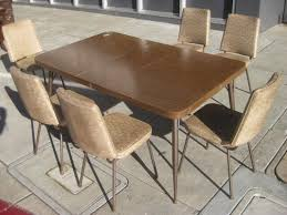 Retro Kitchen Table Chairs Retro Metal Kitchen Table Sets Beauty Attractive Vintage Style