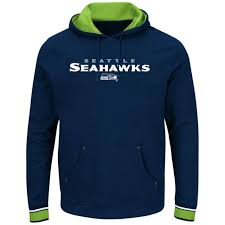 Details About Seattle Seahawks Championship Pullover Hoodie Navy Plus Sizes Embroidered Nfl