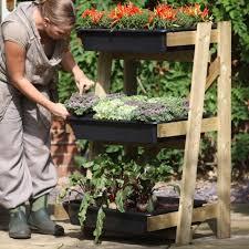 Kitchen Garden Trough Freestanding Ladder Vegetable Garden Planters At Harrod