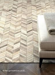 chevron cowhide rug gray in natural