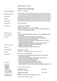 Simple Job Resume Outline Resume Examples For Retail Jobs Retail Job Resume Retail Job Resume