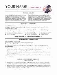 Interior Design Resume Sample Resume Online Builder
