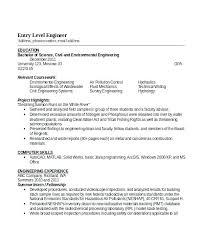 Entry Level Engineering Resume Noxdefense Com