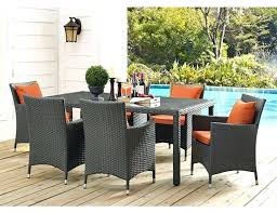 hanover lavallette 7 piece outdoor dining set with table umbrella and base fire pit sets round