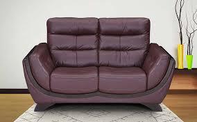 royaloak atlanta two seater genuine leather sofa