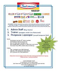 Tugas staff admin indomart / tugas staff admin indomart : Hrd Indomaret Pusat Photos Facebook