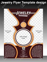 Jewelry Flyer Jewelry Flyer Template Design Vector Illustration