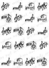 20 Piano Keys And Music Notes Assortment By Rrcreationsnailart