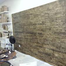 stained distressed shiplap boards