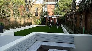 Small Picture Grey deck low maintenance white raised beds privacy screen London