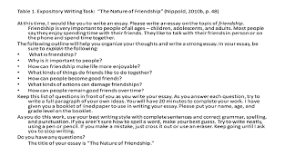 "expository writing task ""the nature of friendship"" nippold  expository writing task ""the nature of friendship"" nippold"