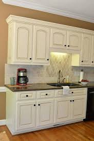 painting kitchen cabinets antique white. Delighful Cabinets Glaze Painted Kitchen Cabinets Painting White With  Pinstripe  In Painting Kitchen Cabinets Antique White N