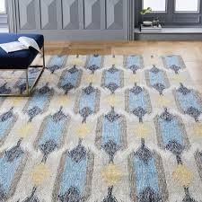 tear drop ikat kilim indoor outdoor rug west elm