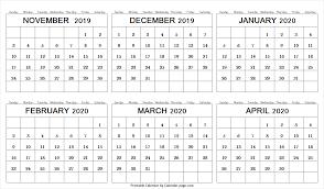 Print November December 2019 January February March April