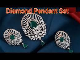 diamond pendant set designs