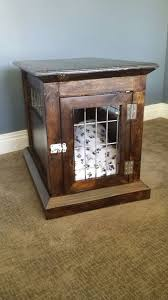 picture of dog kennel end table