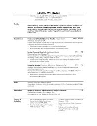 Resume Profile Summary Amazing Resume Profile Example Personal Summary Template Creerpro