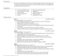 Nanny Resume Sample Best Nanny Resume Example Nanny Resume Sample Nanny Resume Examples Are