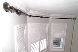 Curtains Home Accessories Simple Bayow Curtain Rod With Green. Images Of  Curtains For Bay Window ...