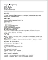 Gallery Of Engineering Resume Examples Electrician Resume Format