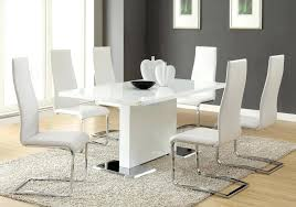 bassett dining chairs futuristic hickory white dining tables with comfortable gray rug and stunning curvy white