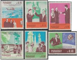 kennedy office supplies. Paraguay 1967 Kennedy And Space Exploration Set Office Supplies H