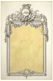 mirror frame drawing. Beautiful Drawing Drawing Design For A Mirror Frame With Monogram Of MarieAntoinette Inside Drawing R