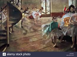 painting titled the rehearsal by edgar degas 1834 1917 a french artist and sculptor dated 19th century