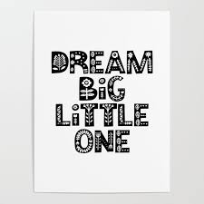 dream big little one inspirational wall