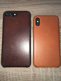 apple sattle brown leather case after a year vs new