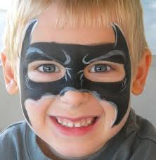 a more detailed batman mask face painting