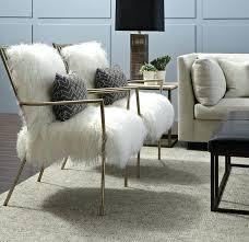 black faux fur chair gold bob