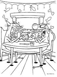 coloring pages of catdog