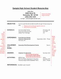 Sample Resume Of High School Graduate Resume Examples High School Unique Resume Template for High School 18