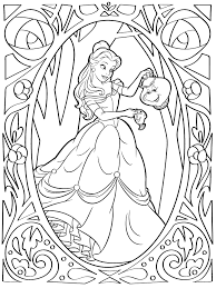She usually loves to wear a golden colored gown and looks fabulous in it. Belle Coloring Page Disney Lol