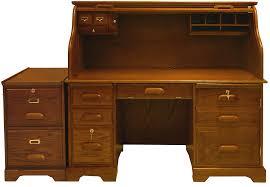 oak roll top computer desk file package in stock