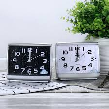 details about minimalist easy to read alarm clock bedside desktop travel in dark silent notick