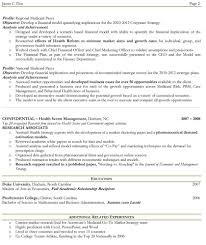 Sample Two Page Resume Resume For Your Job Application