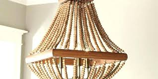 wood bead chandelier pottery barn three tiered beaded reclaimed edison woo reclaimed wood beam chandelier with vintage lights barn pottery