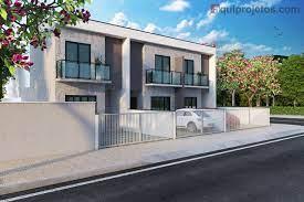 Realizar o sonho da casa própria é o objetivo que muitas pessoas esperam para alcançar. Planta De Casa De Vila Sobrado Geminado Aquiprojetos